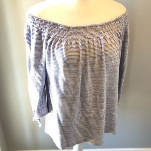 lucky brand off shoulder top size large